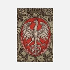 Polish Eagle 1917 1/2 Mark  Rectangle Magnet