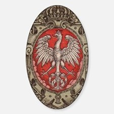 Polish Eagle 1917 1/2 Mark  Sticker (Oval)