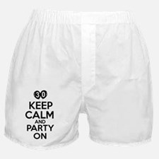 30,Keep Calm And Party On Boxer Shorts