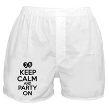 35,Keep Calm And Party On Boxer Shorts
