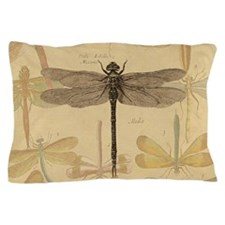 Dragonfly Vintage Pillow Case