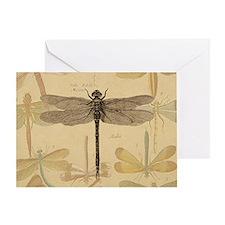 Dragonfly Vintage Greeting Card