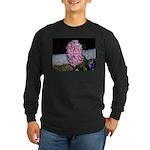 Snow Hyacinth Long Sleeve Dark T-Shirt
