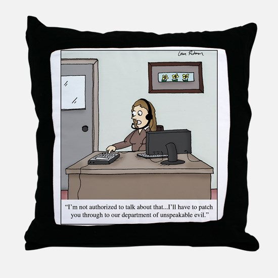 unspeakable evil Throw Pillow