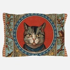 Cat World Vintage Kitty Pillow Case