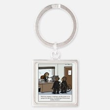 monkey business Square Keychain