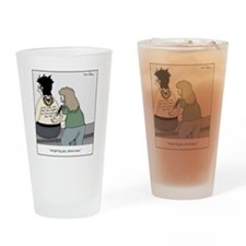 tattoo advertisement Drinking Glass