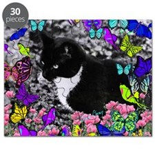 Freckles the Tux Cat in Butterflies II Puzzle