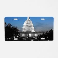 Capitol Hill Blue Aluminum License Plate