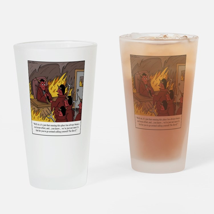 The Devil Drinking Glass