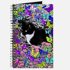 Freckles the Tux Cat in Butterflies II Journal