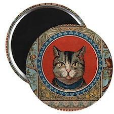 Cat World Vintage Kitty Magnet