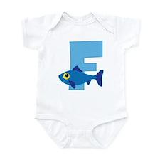 Custom Alphabet Letter F Infant Bodysuit