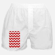 Red Chevron Stripes Boxer Shorts