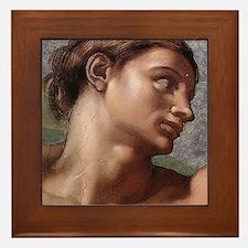 Michelangelo Creation of Adam Framed Tile