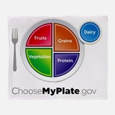 Choose My Plate Throw Blanket
