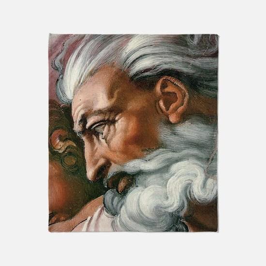 Michelangelo Creation of Adam Throw Blanket