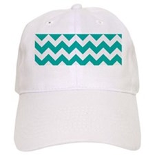 Turquoise Chevron Baseball Cap