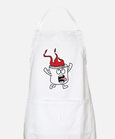 Flaming Marshmallow Apron