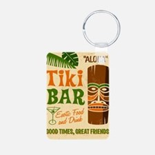 Tiki Bar  Aluminum Photo Keychain