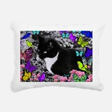 Freckles the Tux Cat in  Rectangular Canvas Pillow