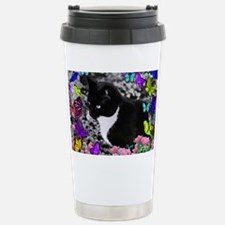 Freckles the Tux Cat in Travel Mug