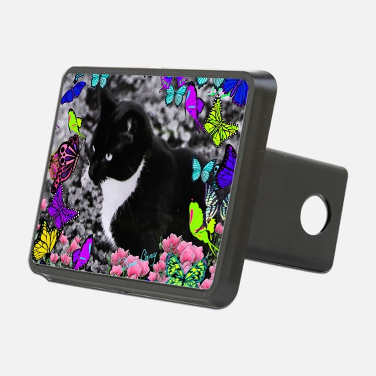 Freckles the Tux Cat in Bu Hitch Cover