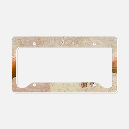 Michelangelo Creation of Adam License Plate Holder