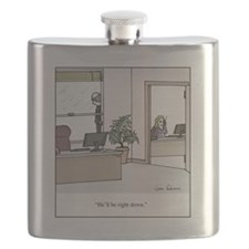 Hell be right down Flask