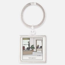 Hell be right down Square Keychain