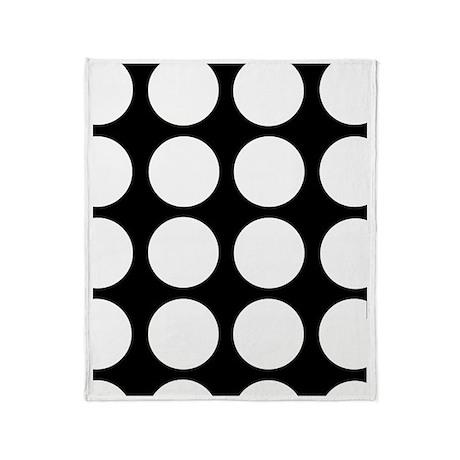 White dots Throw Blanket