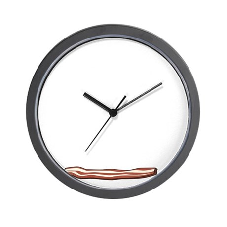 This guy loves bacon Wall Clock