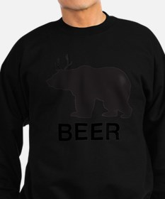 Beer. Bear with Deer Antlers Sweatshirt