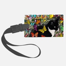 Freckles the Tuxedo Kitty in But Luggage Tag
