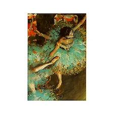 Degas Dancer Green Ballet Impress Rectangle Magnet