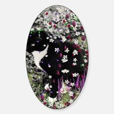 Freckles the Tux Cat in Flowers I Decal