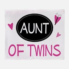 Aunt Of Twins Throw Blanket