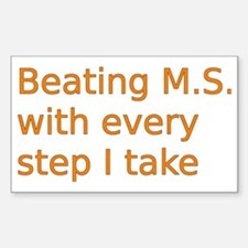 Beating M.S. with every step I Decal