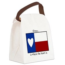 Home is where the heart is. Canvas Lunch Bag