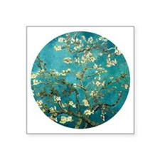 "Van Gogh Almond Blossoms Tr Square Sticker 3"" x 3"""
