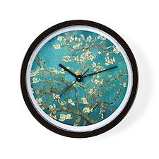 Van Gogh Almond Blossoms Tree Wall Clock