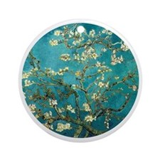 Van Gogh Almond Blossoms Tree Round Ornament