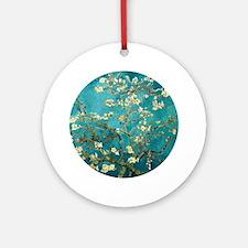 Van Gogh Almond Blossoms Tree Round Ornament