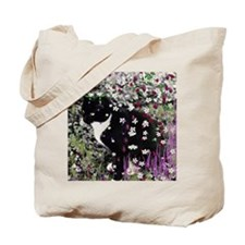 Freckles the Tux Kitty in Flowers I Tote Bag