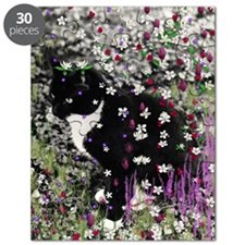 Freckles the Tux Kitty in Flowers I Puzzle