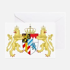 Coat of arms of the Kingdom of Bavar Greeting Card