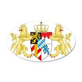 Bavaria Oval Car Magnets