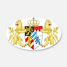 Coat of arms of the Kingdom of Bav Oval Car Magnet