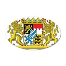 The coat of arms of the Germ 35x21 Oval Wall Decal