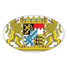 The coat of arms of the German stat Decal